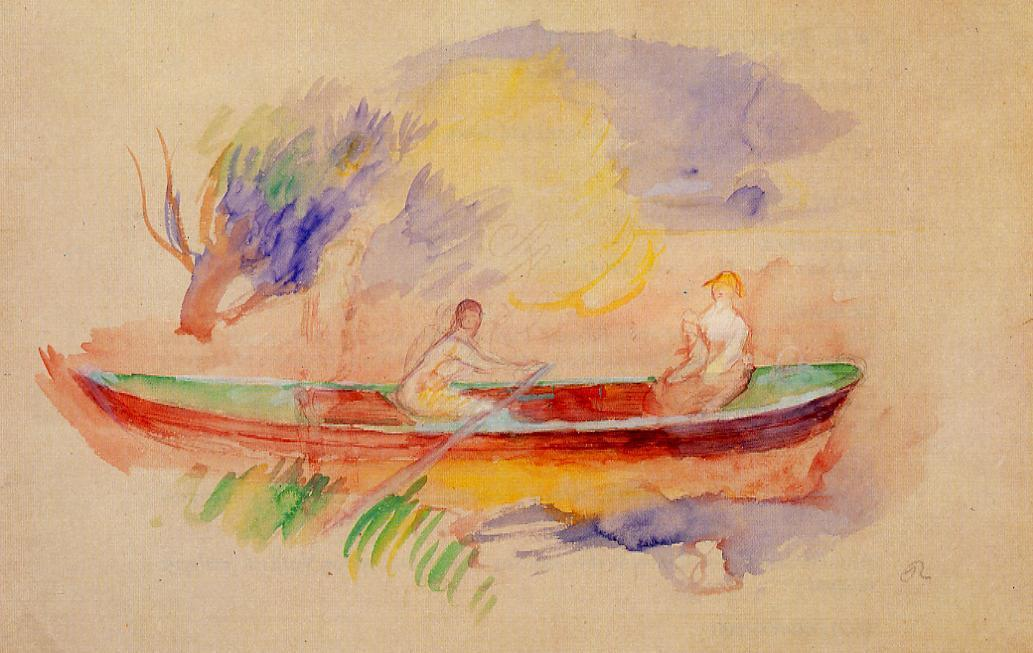 Two Women in a Rowboat 1880-1886 | Pierre Auguste Renoir | Oil Painting