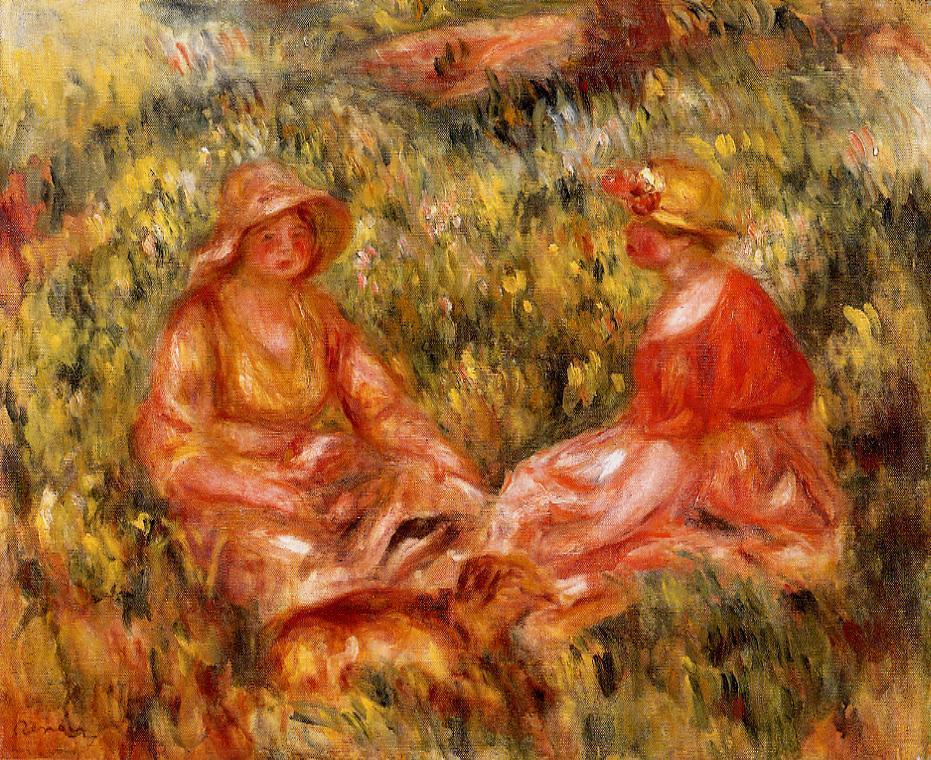 Two Women in the Grass 1910 | Pierre Auguste Renoir | Oil Painting
