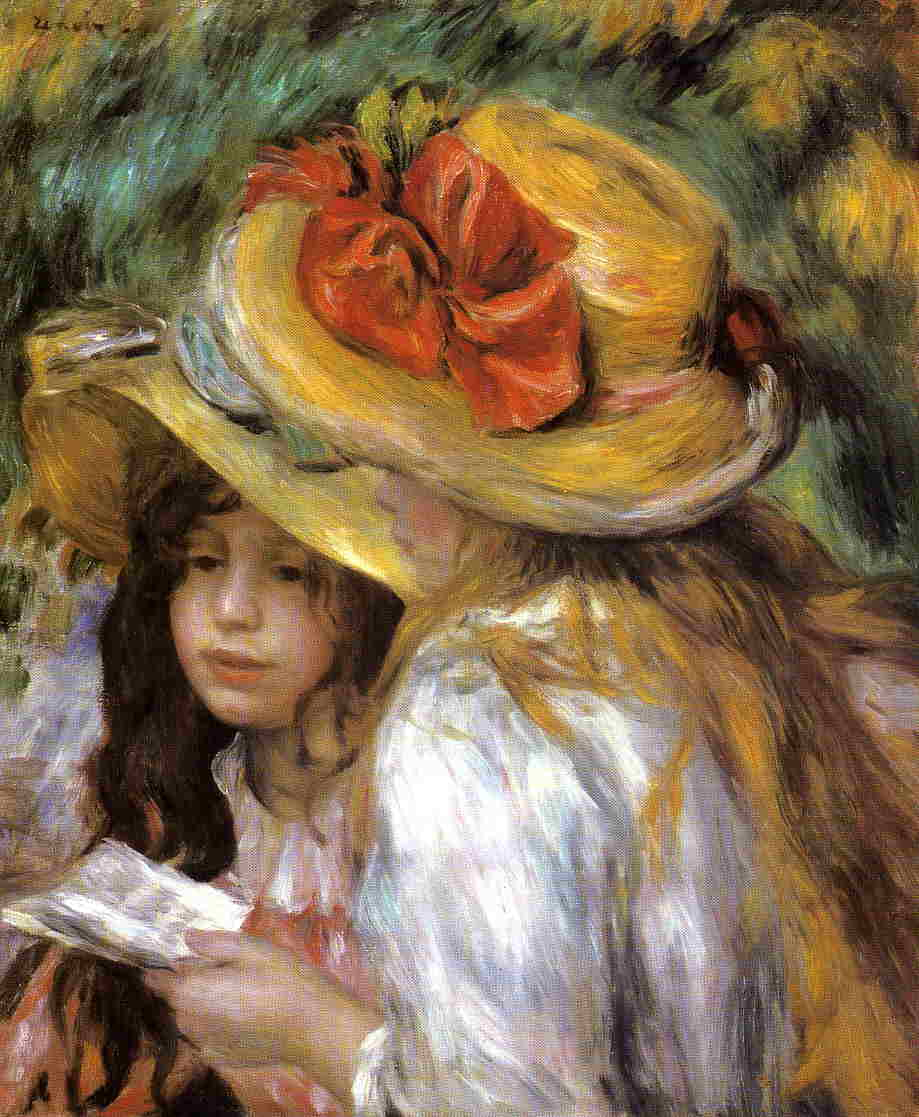 Two Young Girls Reading 1890-1891 | Pierre Auguste Renoir | Oil Painting