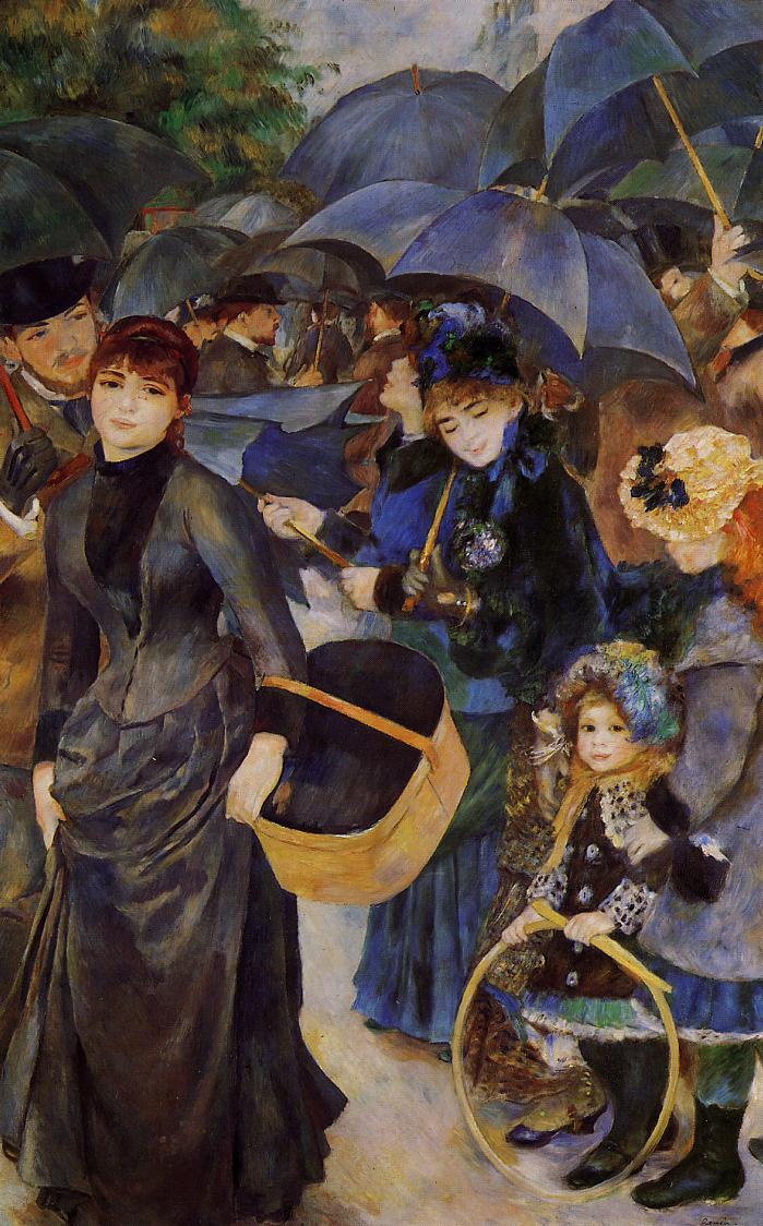 Umbrellas 1881-1886 | Pierre Auguste Renoir | Oil Painting