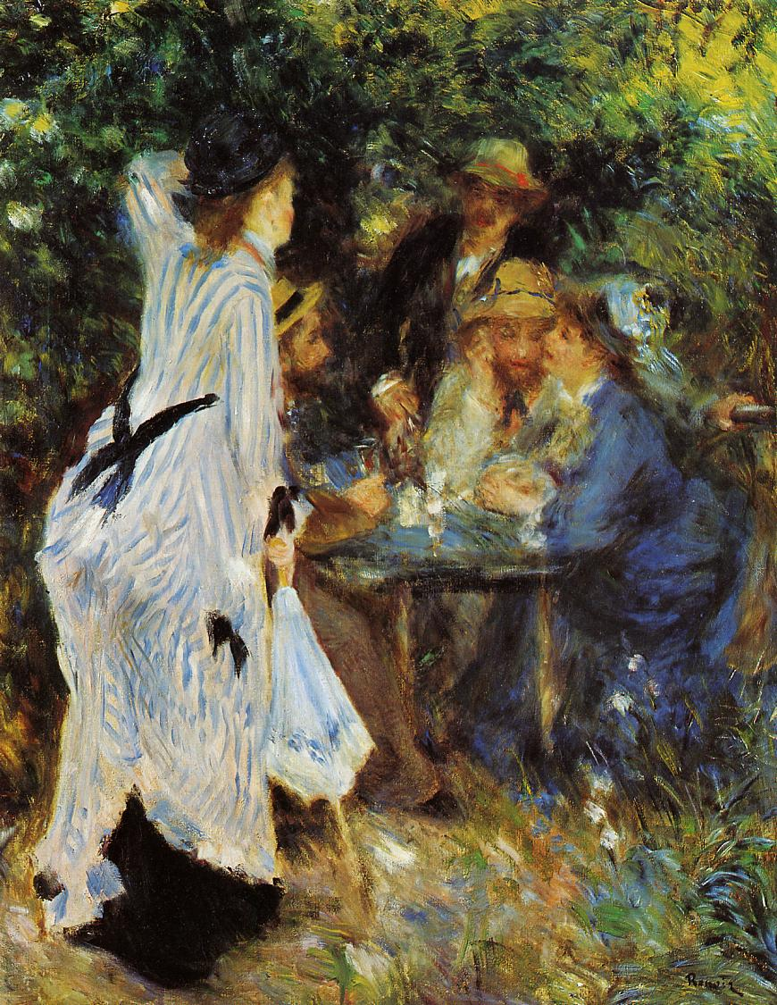 Under the Arbor at the Moulin de la Galette 1876 | Pierre Auguste Renoir | Oil Painting