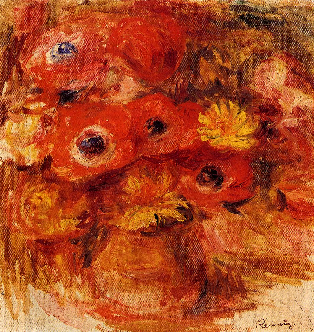 Vase of Anemones | Pierre Auguste Renoir | Oil Painting