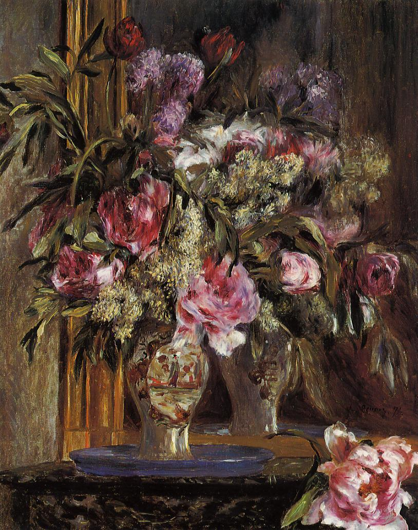 Vase of Flowers 1871 | Pierre Auguste Renoir | Oil Painting
