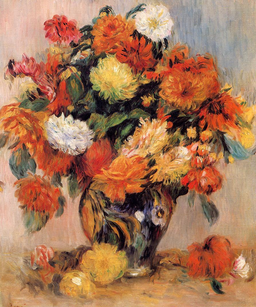 Vase of Flowers 1884 | Pierre Auguste Renoir | Oil Painting