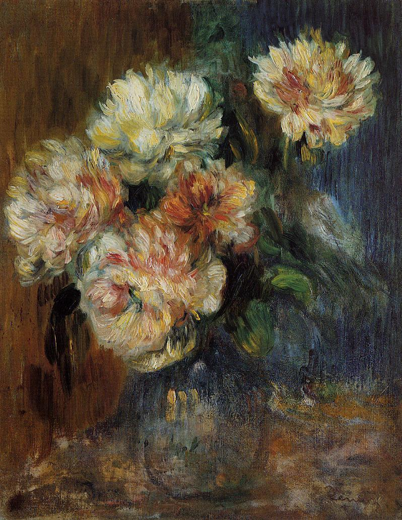 Vase of Peonies 1890 | Pierre Auguste Renoir | Oil Painting