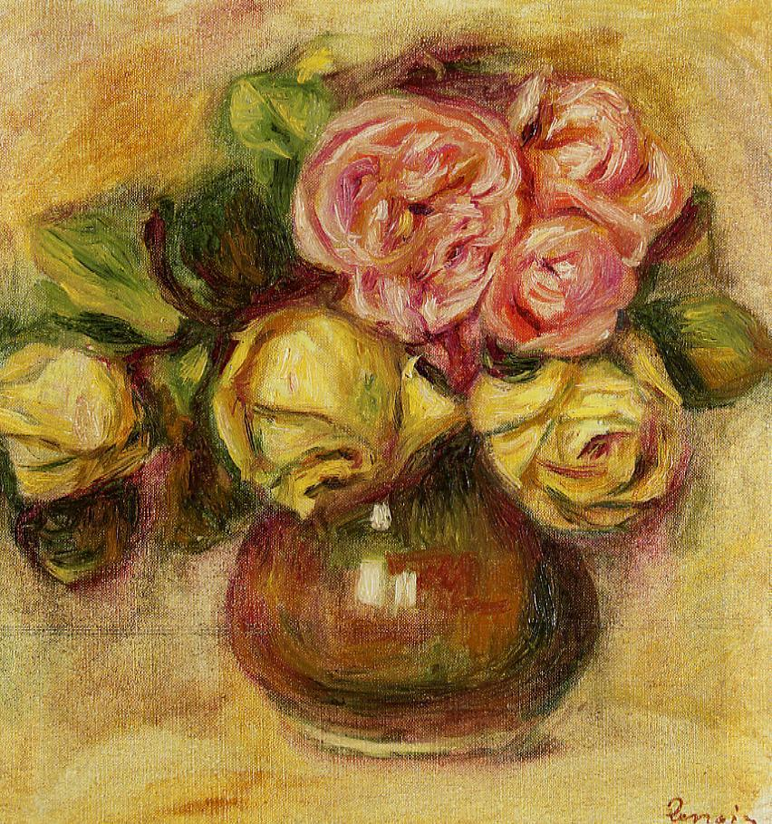 Vase of Roses1 | Pierre Auguste Renoir | Oil Painting