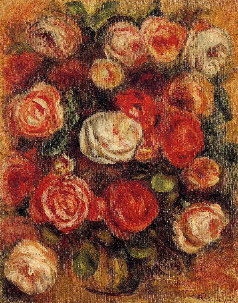 Vase of Roses2 | Pierre Auguste Renoir | Oil Painting