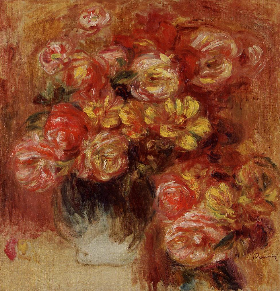 Vase of Roses3 | Pierre Auguste Renoir | Oil Painting