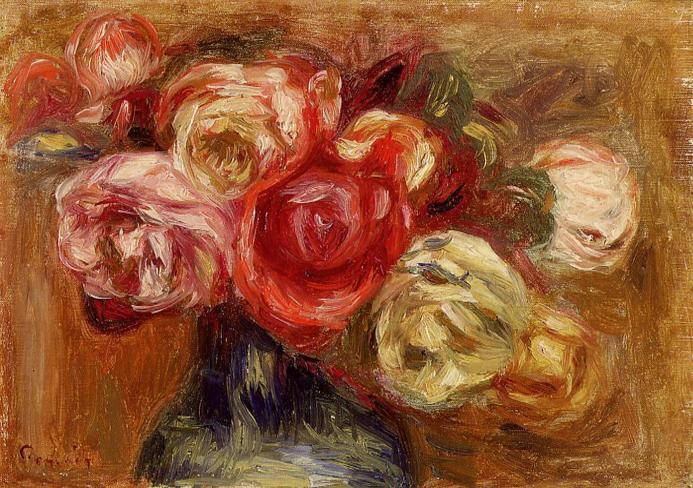 Vase of Roses 1910 | Pierre Auguste Renoir | Oil Painting