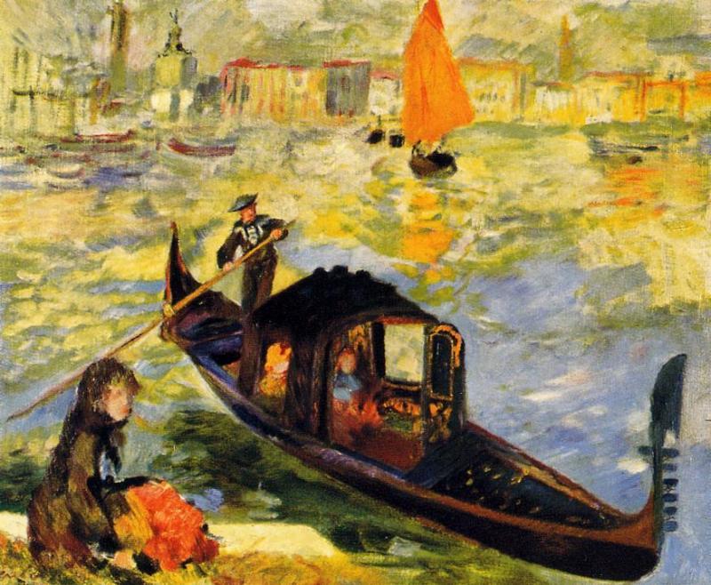 Venetian Gondola1 1881 | Pierre Auguste Renoir | Oil Painting