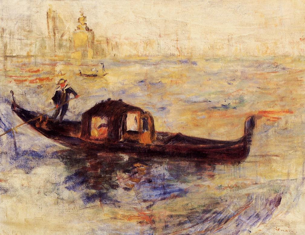 Venetian Gondola2 1881 | Pierre Auguste Renoir | Oil Painting