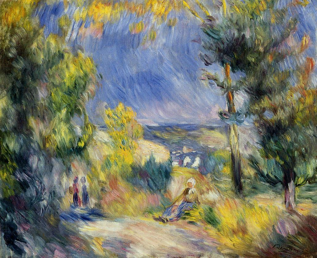 View Close to Antibes 1889 | Pierre Auguste Renoir | Oil Painting