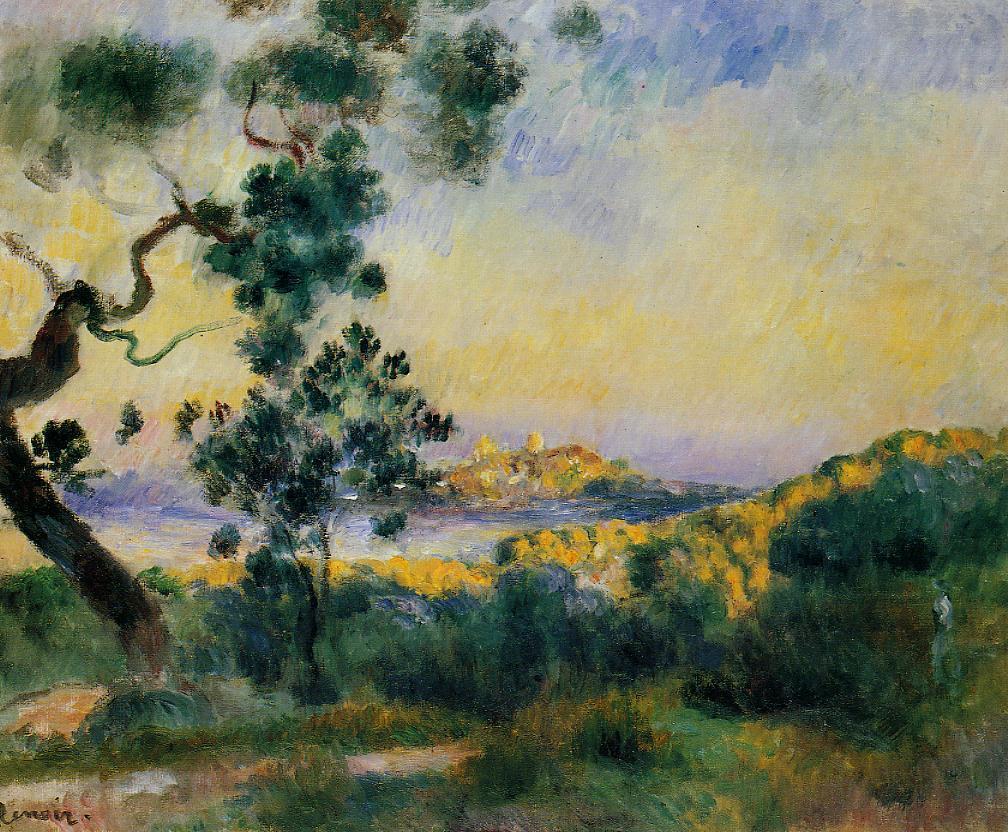 View of Antibes 1892-1893 | Pierre Auguste Renoir | Oil Painting