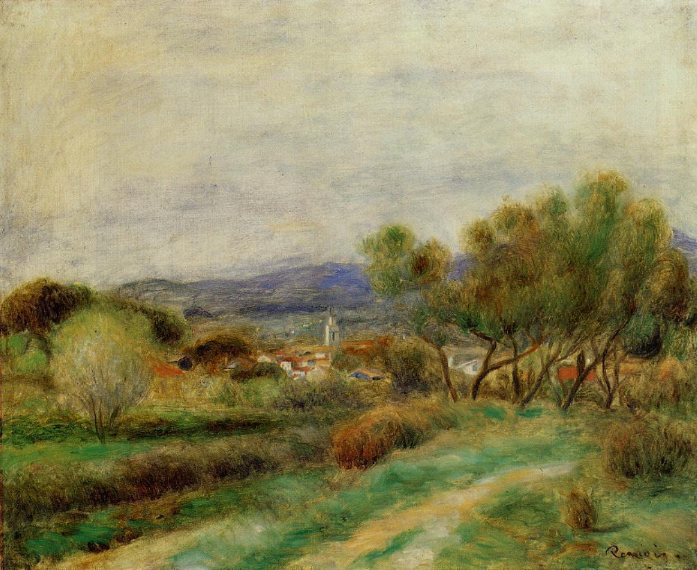 View of La Sayne 1890 | Pierre Auguste Renoir | Oil Painting