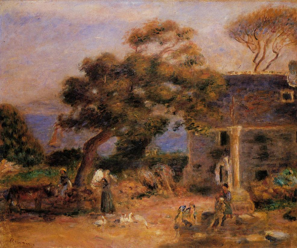 View of Treboul 1895 | Pierre Auguste Renoir | Oil Painting