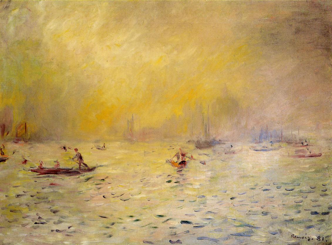 View of Venice Fog 1881 | Pierre Auguste Renoir | Oil Painting