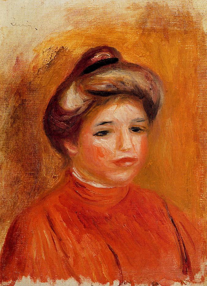 Womans Head1 1905 | Pierre Auguste Renoir | Oil Painting