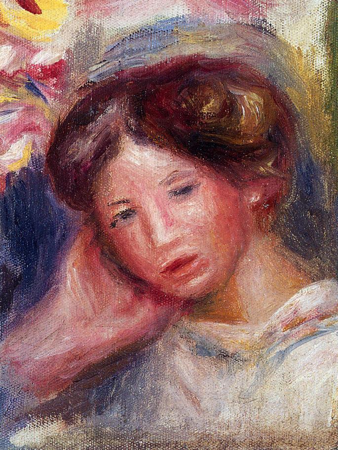 Womans Head2 1905 | Pierre Auguste Renoir | Oil Painting