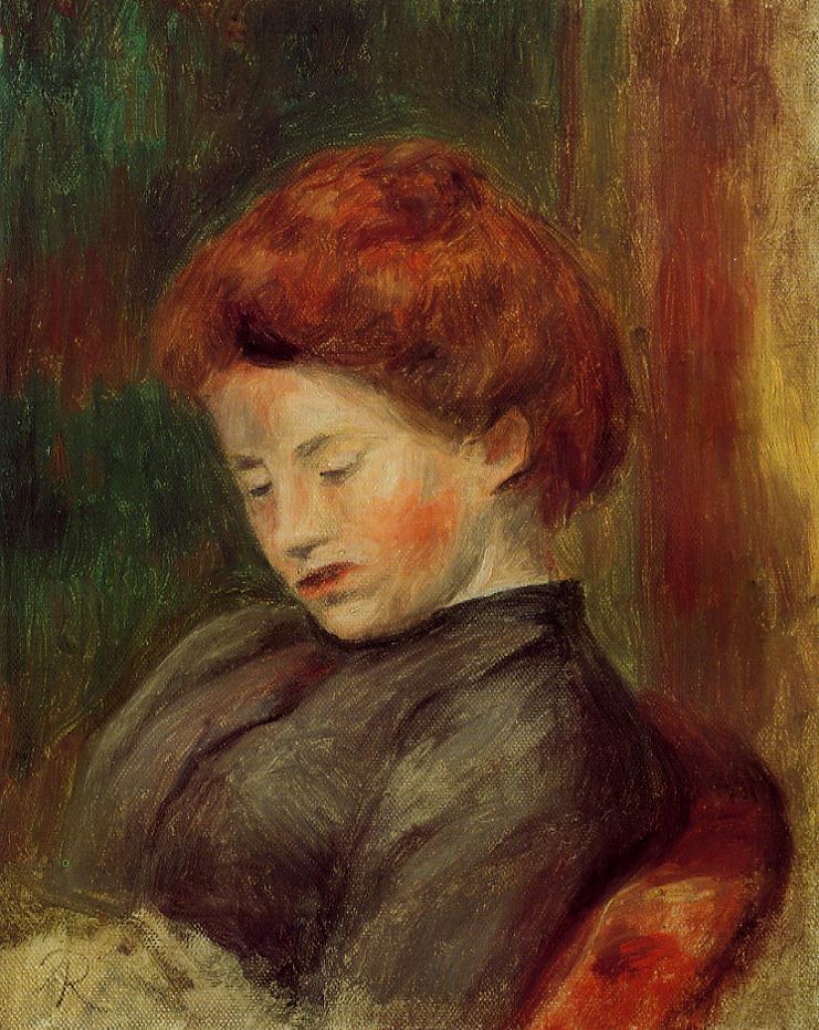 Womans Head2 | Pierre Auguste Renoir | Oil Painting