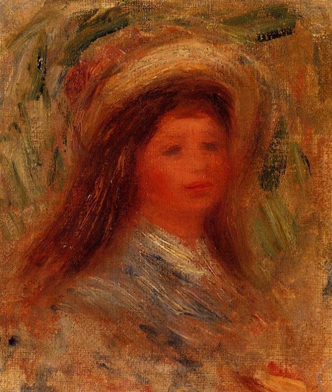 Womans Head4 | Pierre Auguste Renoir | Oil Painting