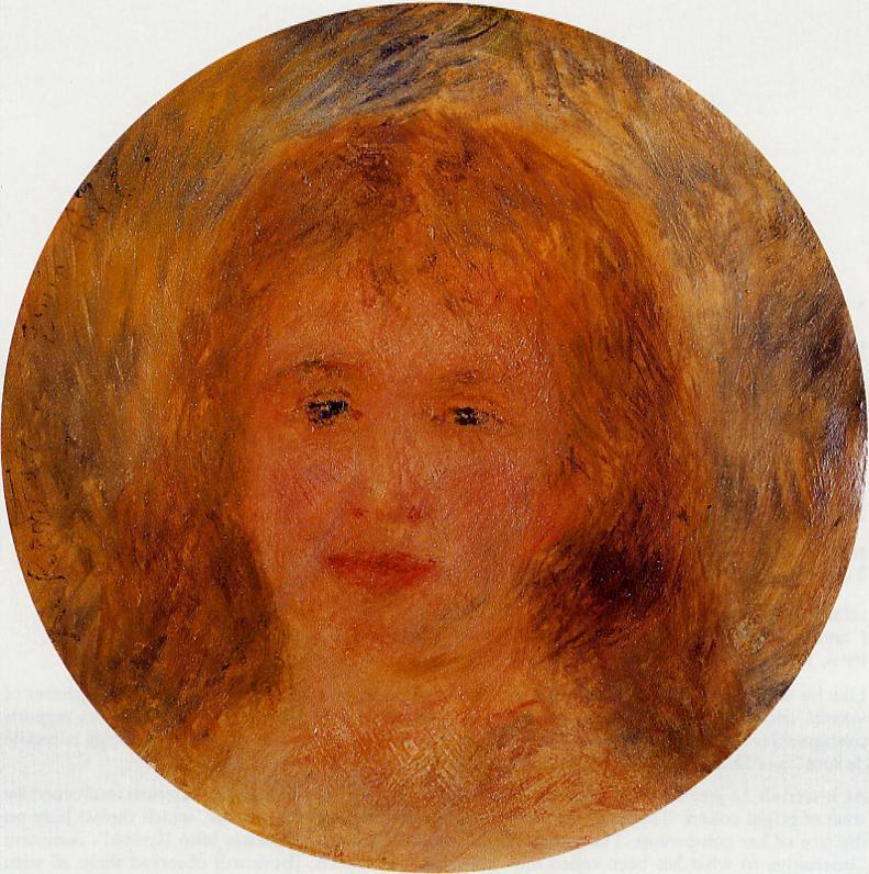 Womans Head (aka Jeanne Samary) 1877 | Pierre Auguste Renoir | Oil Painting