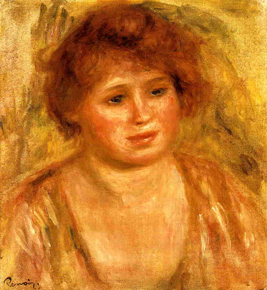 Womans Head 1919 | Pierre Auguste Renoir | Oil Painting