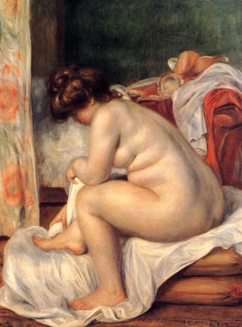 Woman After Bathing 1896 | Pierre Auguste Renoir | Oil Painting