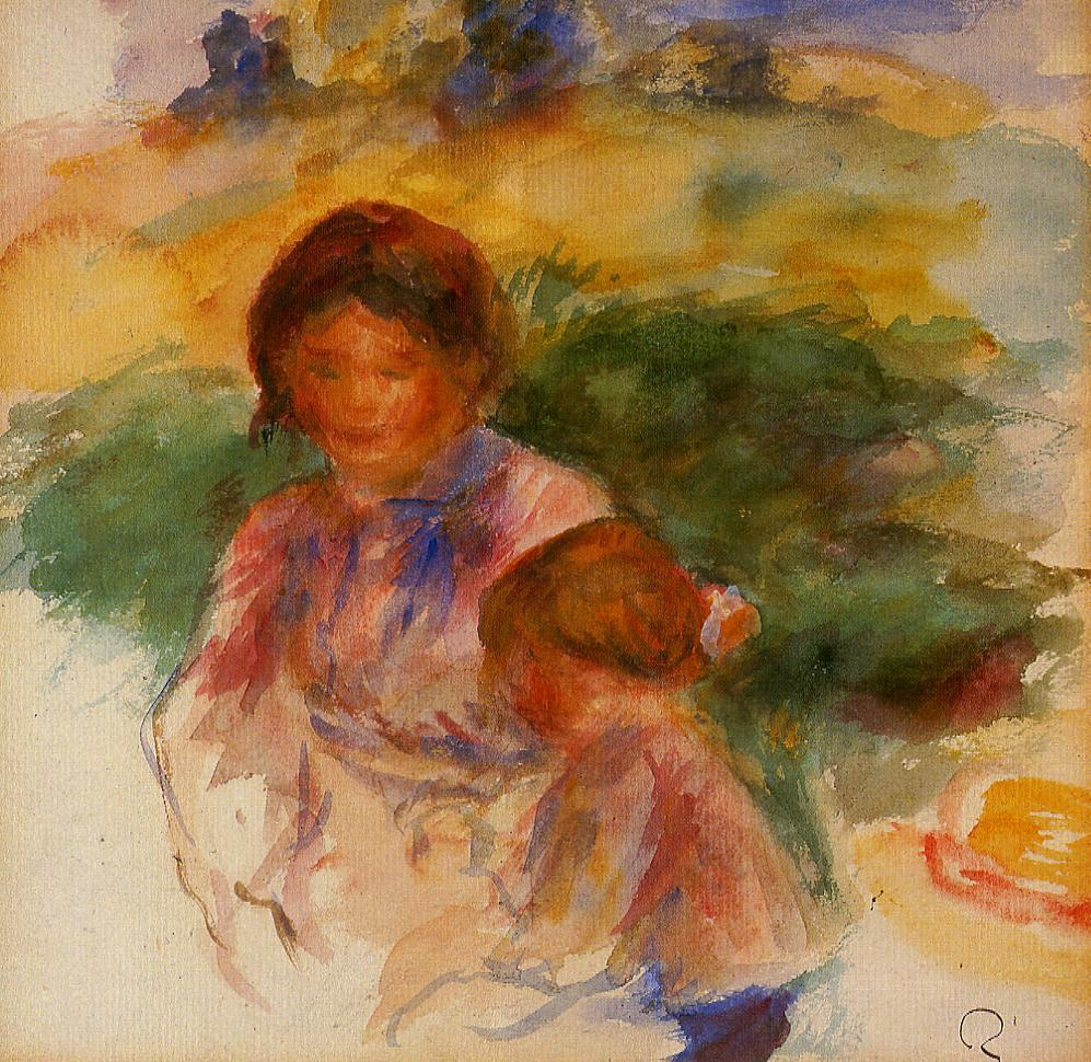 Woman and Child in the Country 1896 | Pierre Auguste Renoir | Oil Painting