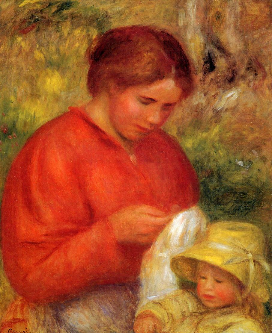 Woman and Child 1900 | Pierre Auguste Renoir | Oil Painting
