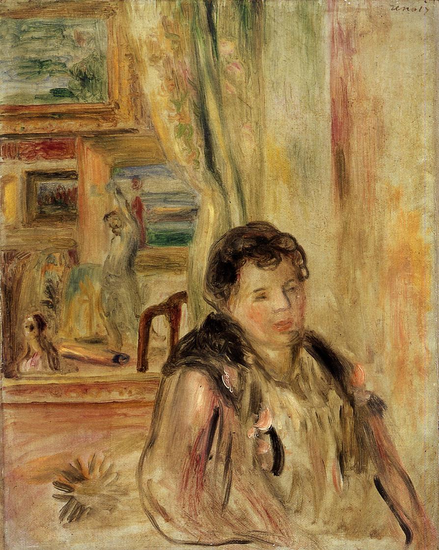 Woman in an Interior | Pierre Auguste Renoir | Oil Painting