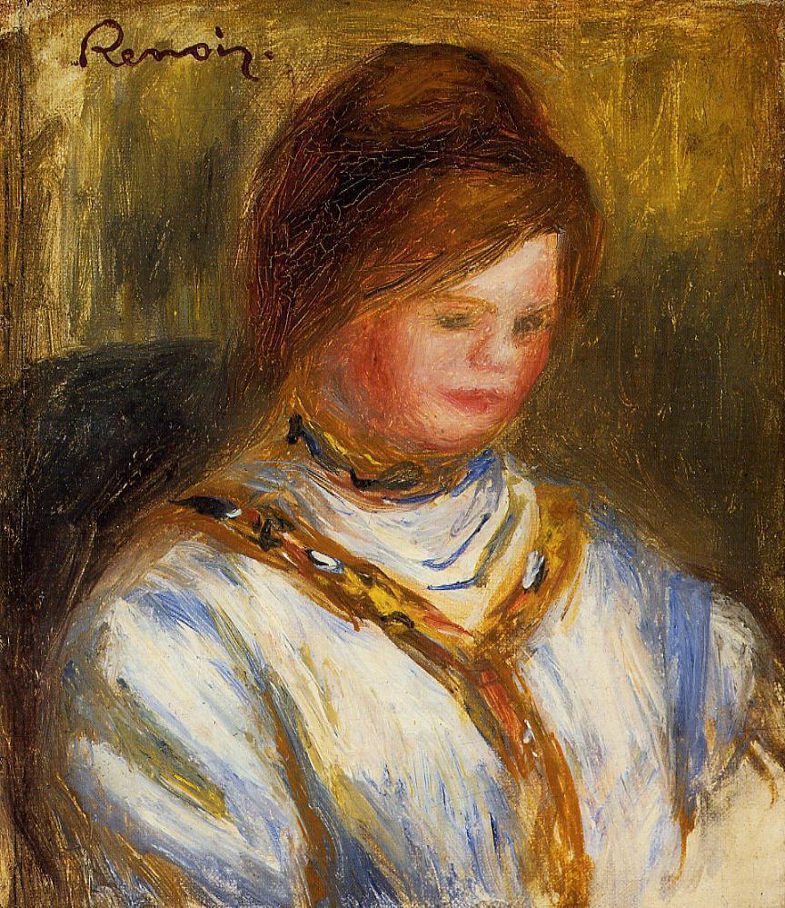Woman in a Blue Blouse 1906 | Pierre Auguste Renoir | Oil Painting