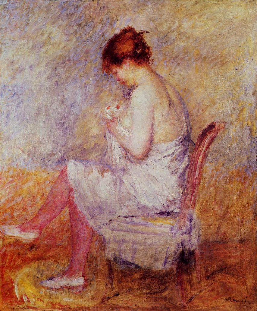 Woman in a Chemise 1897-1898 | Pierre Auguste Renoir | Oil Painting
