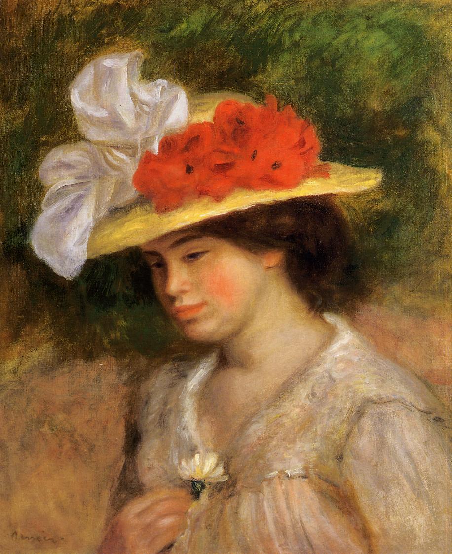 Woman in a Flowered Hat 1899 | Pierre Auguste Renoir | Oil Painting