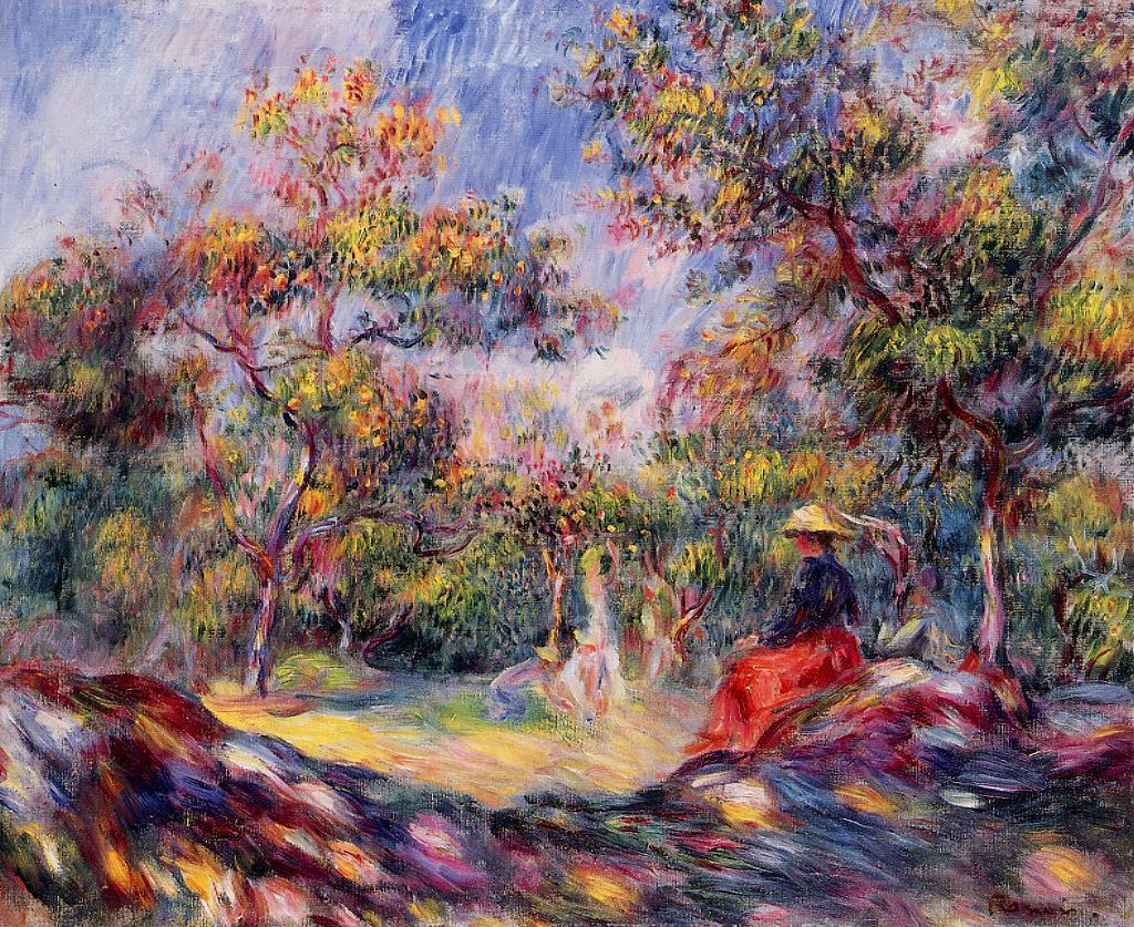 Woman in a Landscape2 | Pierre Auguste Renoir | Oil Painting
