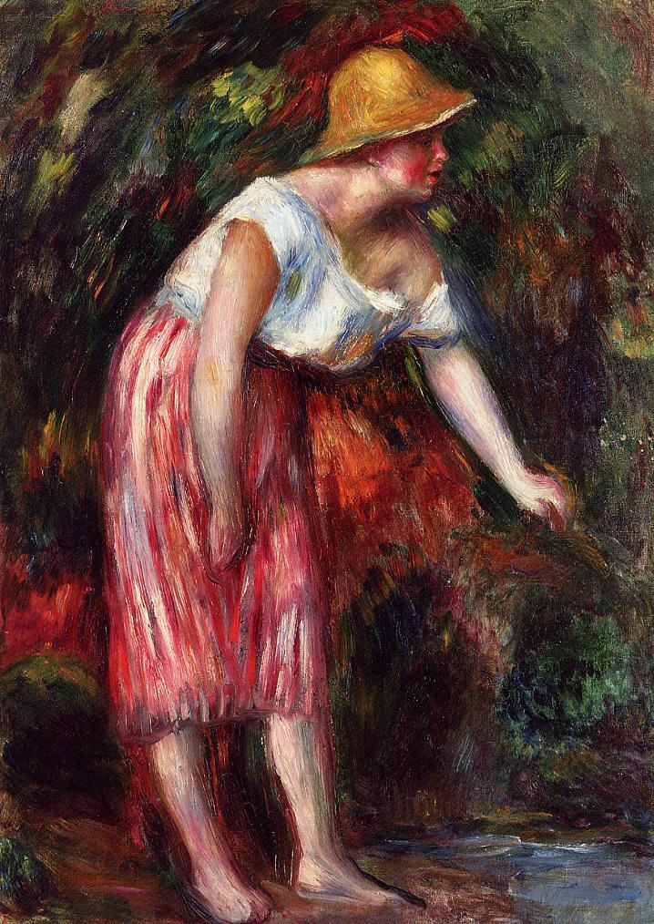 Woman in a Straw Hat | Pierre Auguste Renoir | Oil Painting