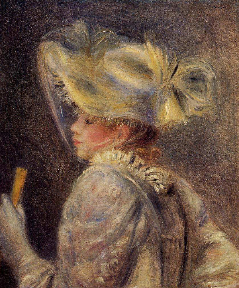 Woman in a White Hat 1890 | Pierre Auguste Renoir | Oil Painting
