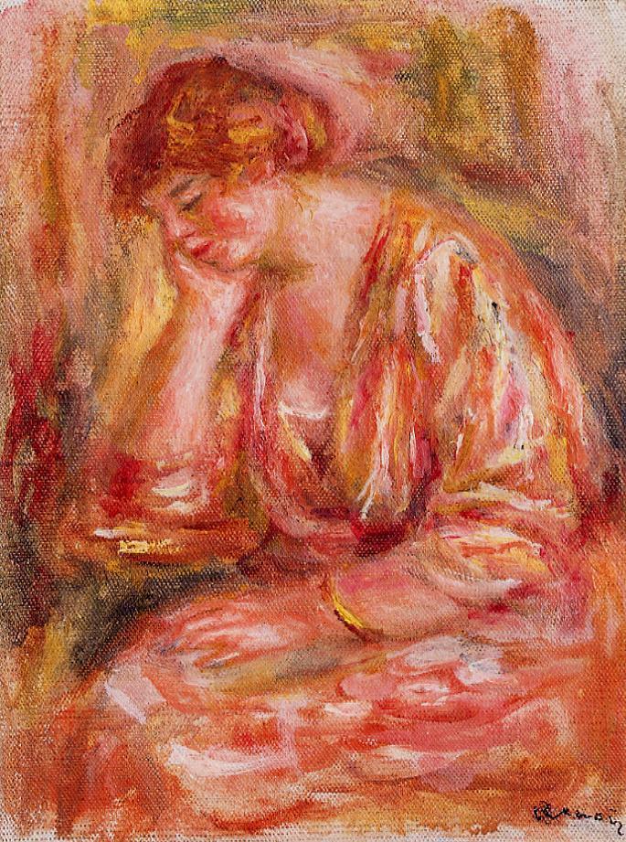 Woman Leaning on Her Elbow 1918 | Pierre Auguste Renoir | Oil Painting