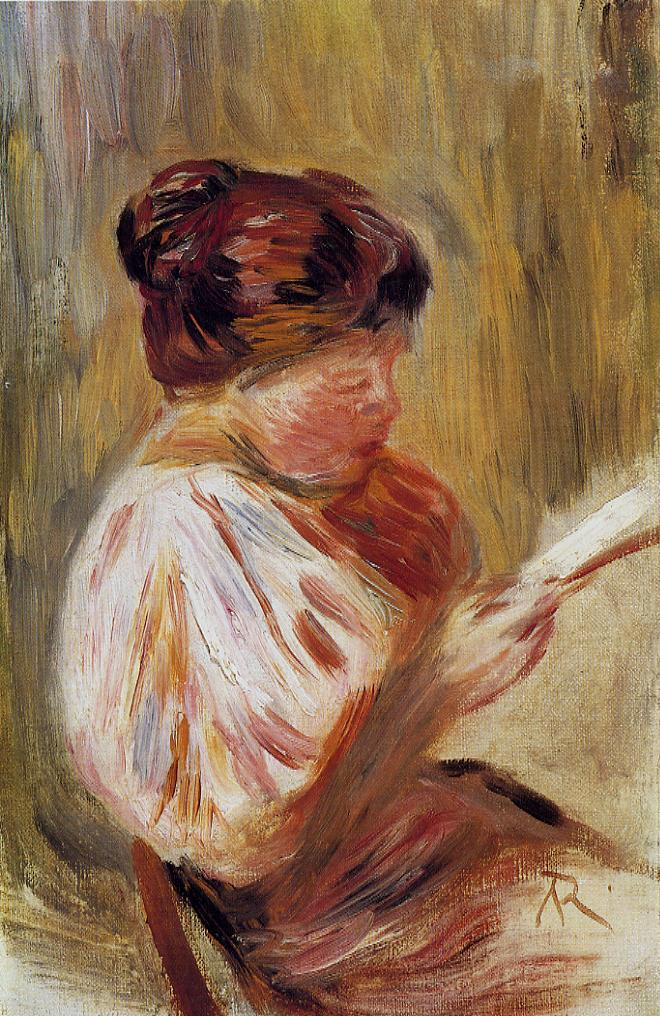 Woman Reading 1895 | Pierre Auguste Renoir | Oil Painting