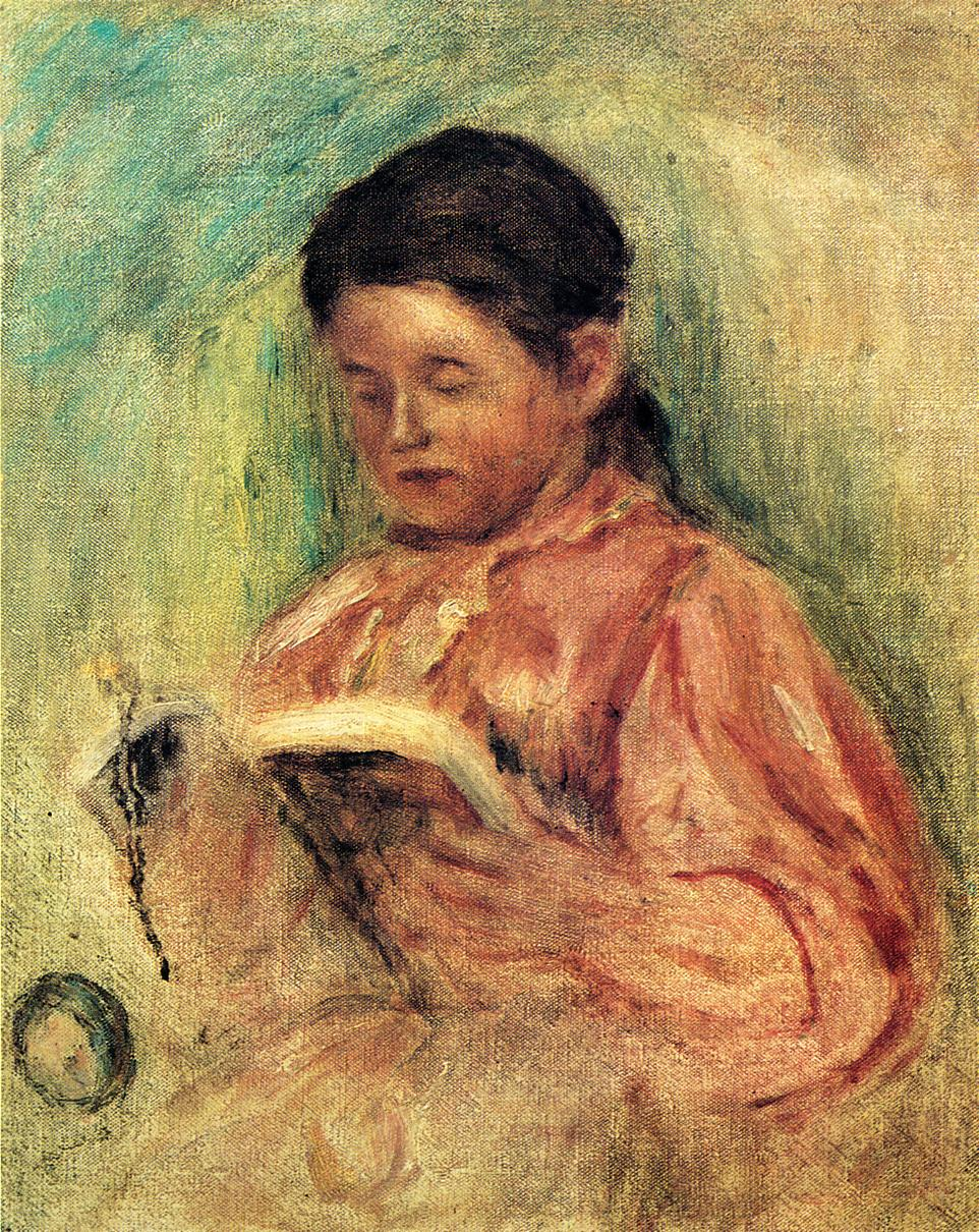 Woman Reading 1906-1909 | Pierre Auguste Renoir | Oil Painting