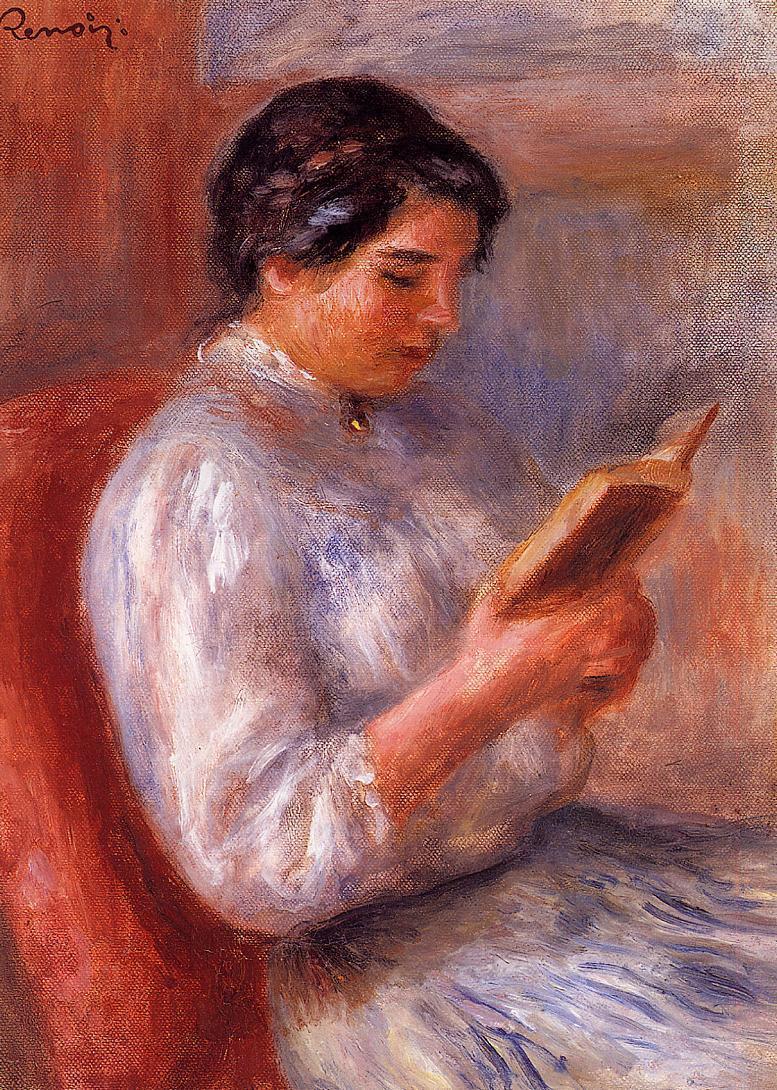 Woman Reading 1906 | Pierre Auguste Renoir | Oil Painting