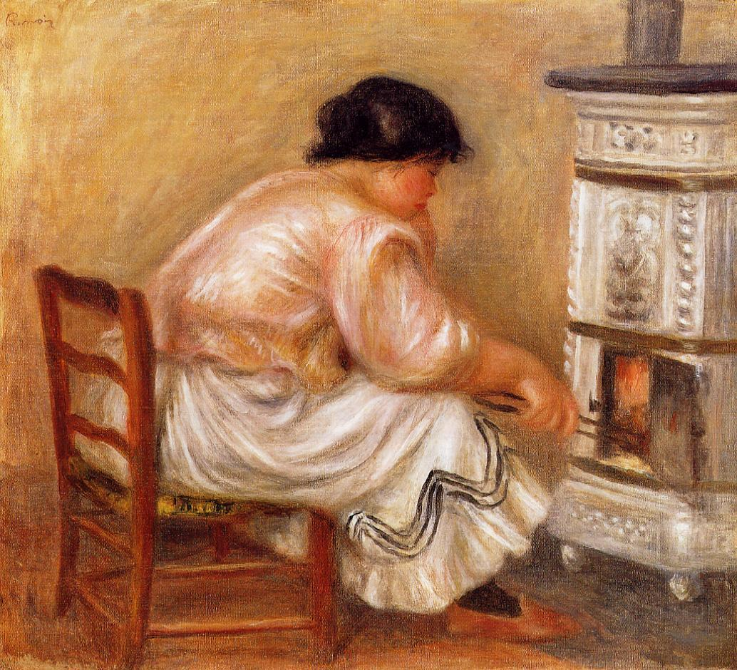 Woman Stoking a Stove 1912 | Pierre Auguste Renoir | Oil Painting