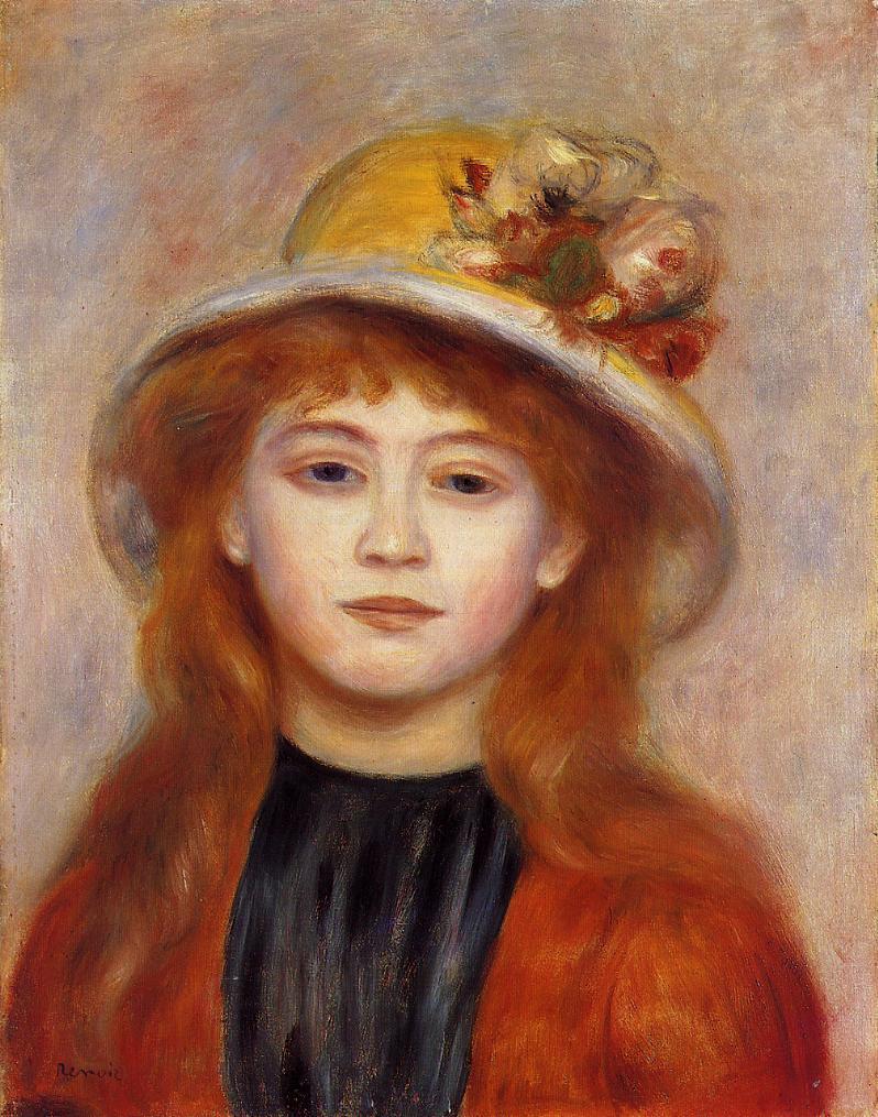 Woman Wearing a Hat 1889 | Pierre Auguste Renoir | Oil Painting