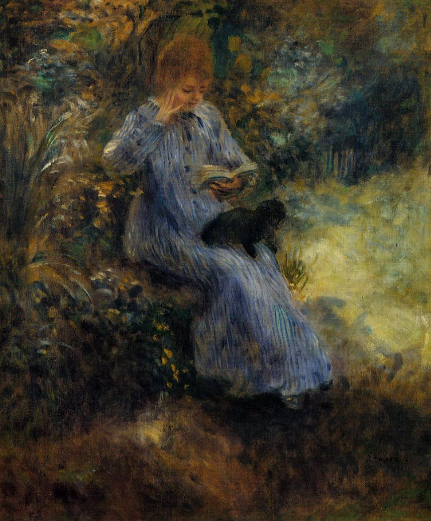 Woman with a Black Dog 1874 | Pierre Auguste Renoir | Oil Painting