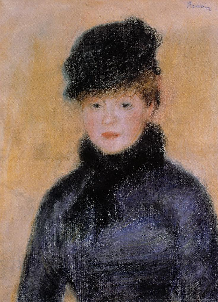 Woman with a Blue Blouse 1882-1883 | Pierre Auguste Renoir | Oil Painting