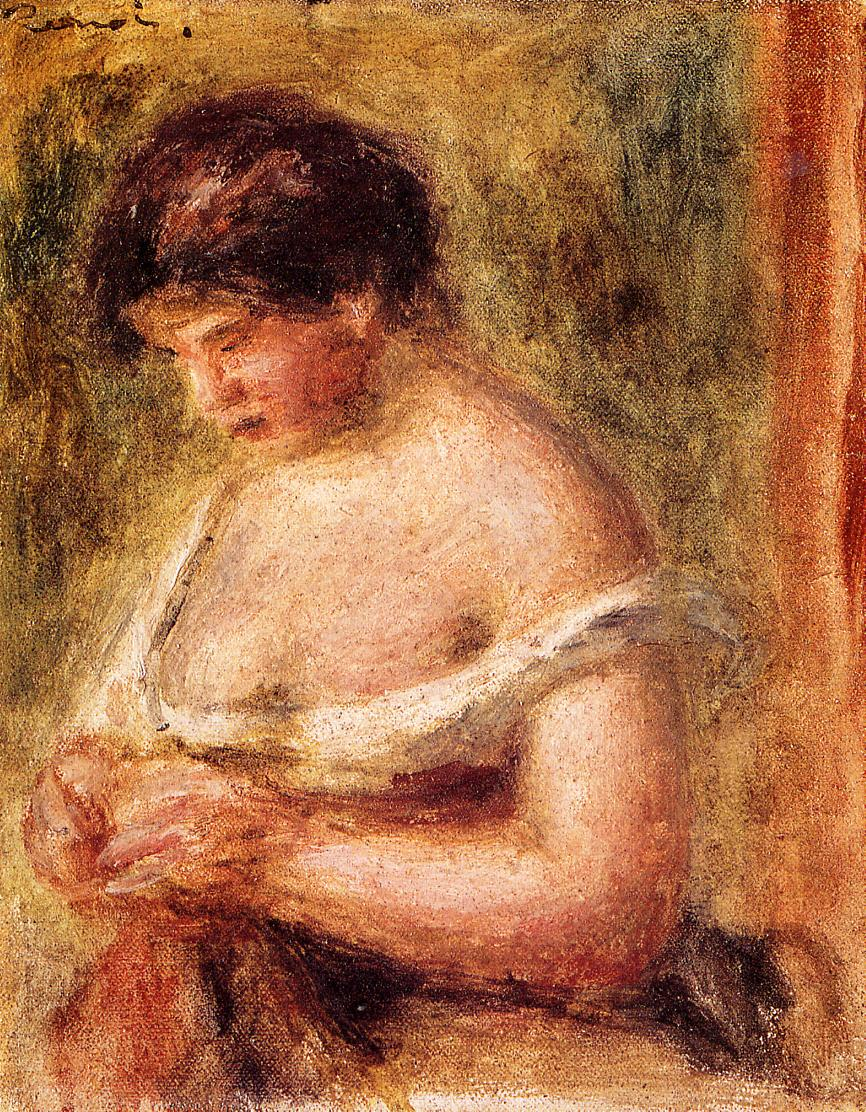 Woman with a Corset 1914 | Pierre Auguste Renoir | Oil Painting