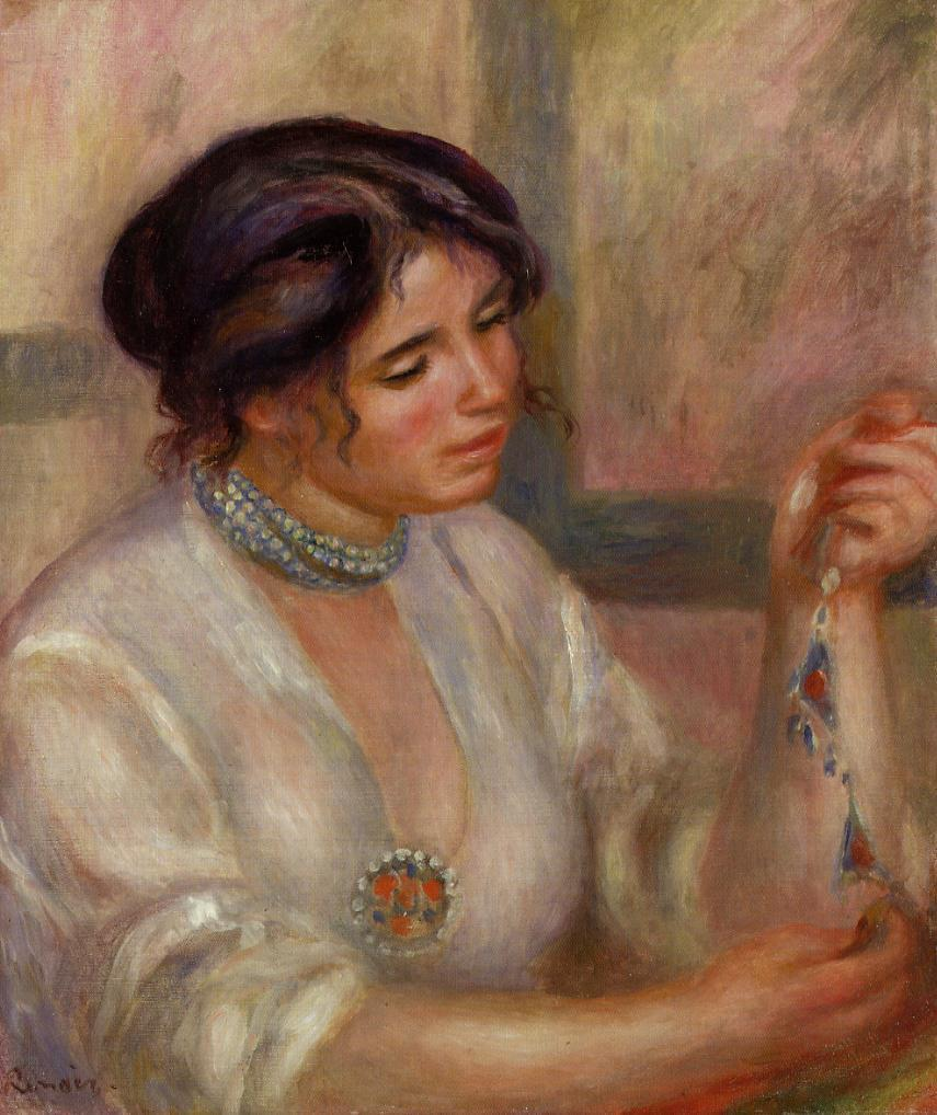 Woman with a Necklace 1910 | Pierre Auguste Renoir | Oil Painting