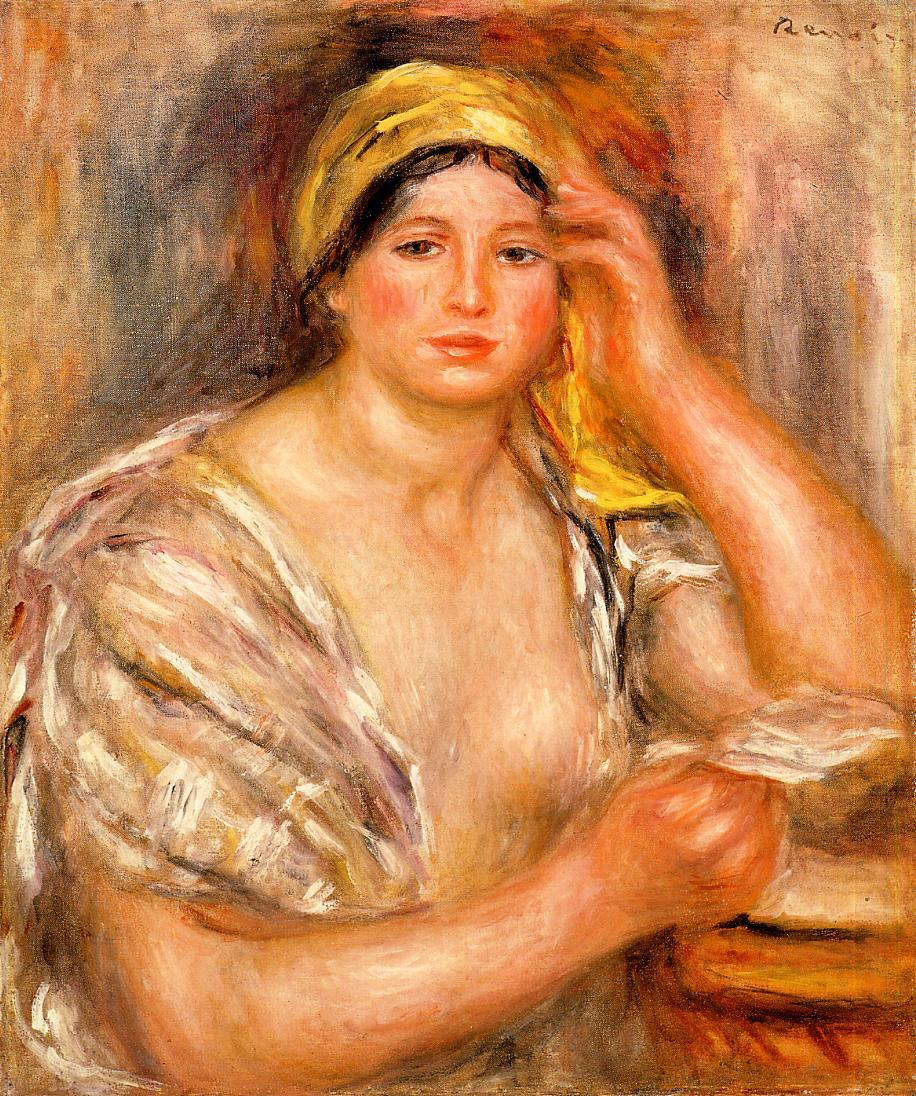 Woman with a Yellow Turban 1917 | Pierre Auguste Renoir | Oil Painting
