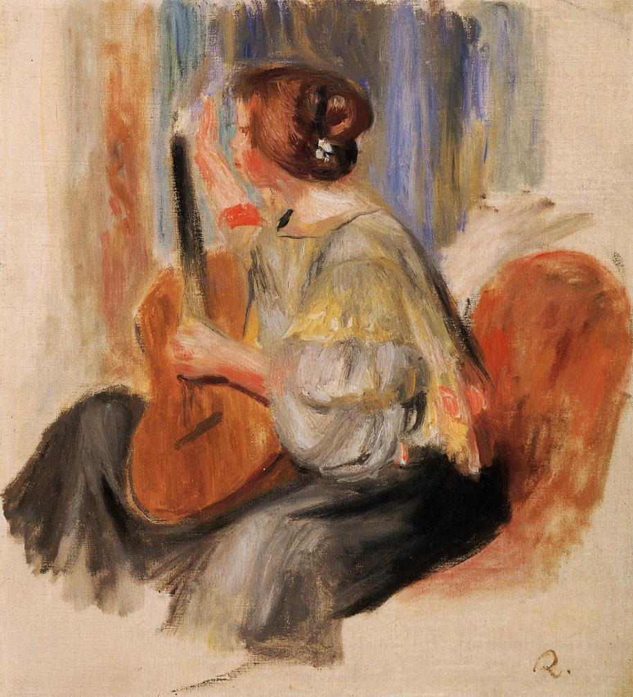 Woman with Guitar | Pierre Auguste Renoir | Oil Painting