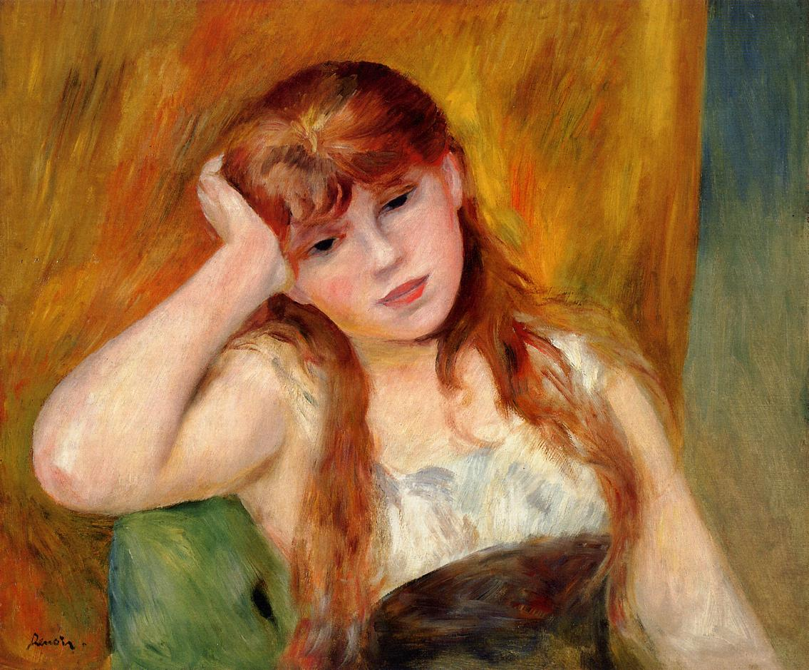 Young Blond Woman 1886 | Pierre Auguste Renoir | Oil Painting