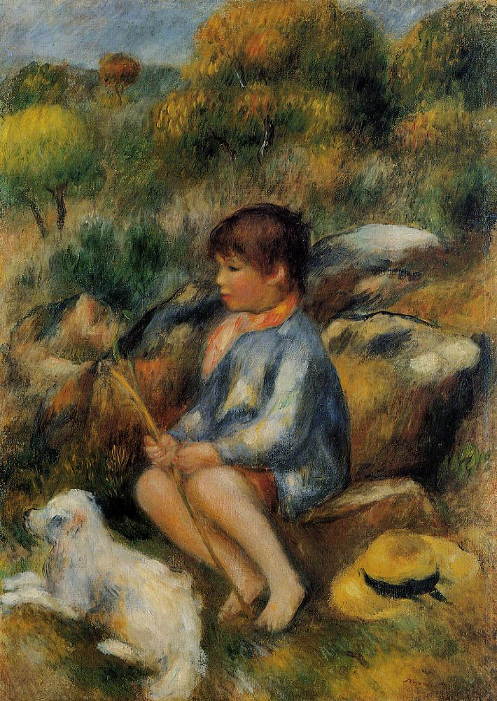 Young Boy at the Stream 1890 | Pierre Auguste Renoir | Oil Painting